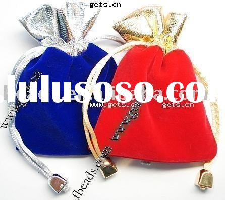gift bag for pack jewelry,material:Velveteen,Assorted colors, with drawstring, 15.5X12cm