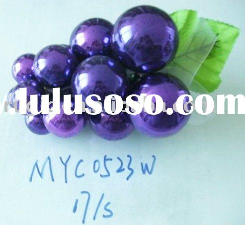 grape shape shining purple plastic Christmas ball /Christmas ball gift box/ Christmas ball ornament/
