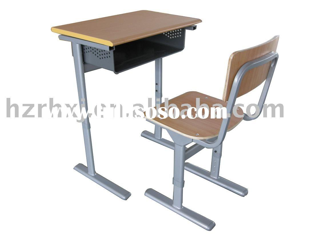 height adjustable school desk and chair