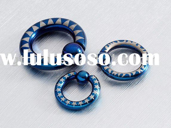 hot 316L surgical steel with anodizing nose ring piercing jewelry