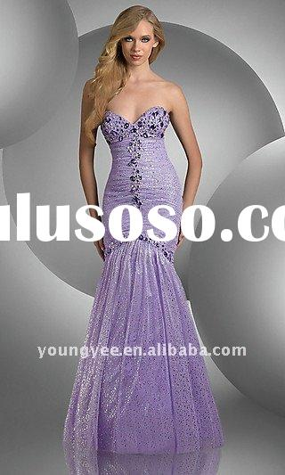 hot sales sweetheart neckline mermaid party dresses for women 2011 latest dress designs,party dresse