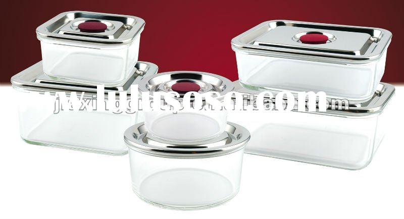 hot sell and popular glass food container