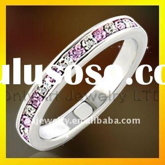 hot selling CZ 925 sterling silver jewelry wedding band with fast delivery paypal