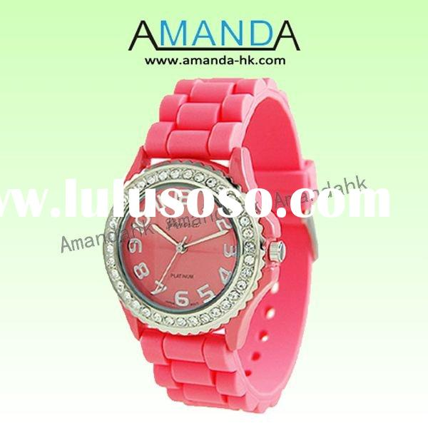 hottest women's wrist watch,silicone jelly watch,free shipping,plenty of stock,high quality,