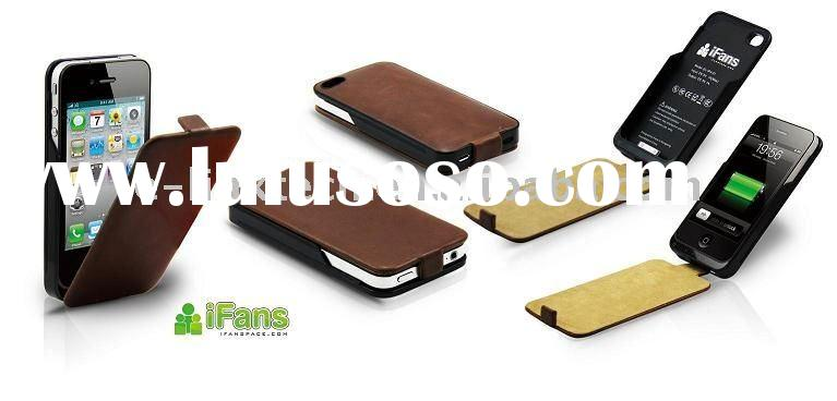 iFans Brown Leather Battery Case for iPhone 4/4S