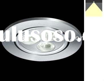 in-ceiling 3x1W recessed led down lighting fixture
