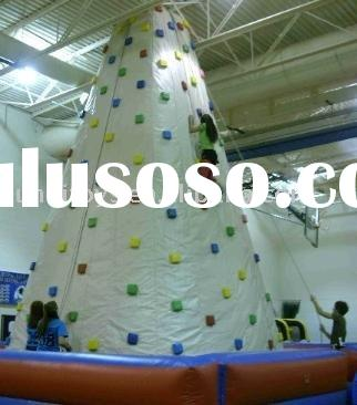 inflatable rock climbing wall - adventure games for kids