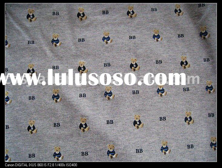 knitted Printed terry fabric