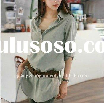 korean new style long sleeve blouse/t shirt for lady