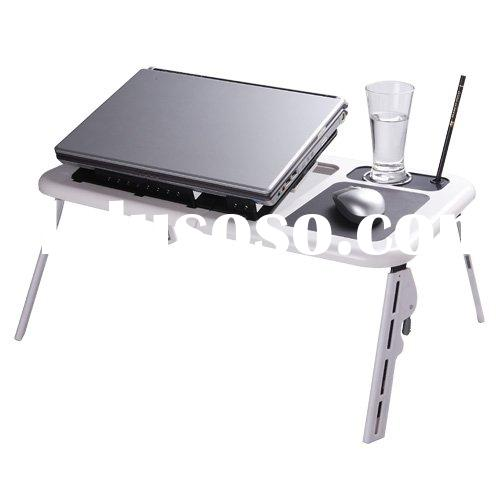 laptop folding table with usb fans