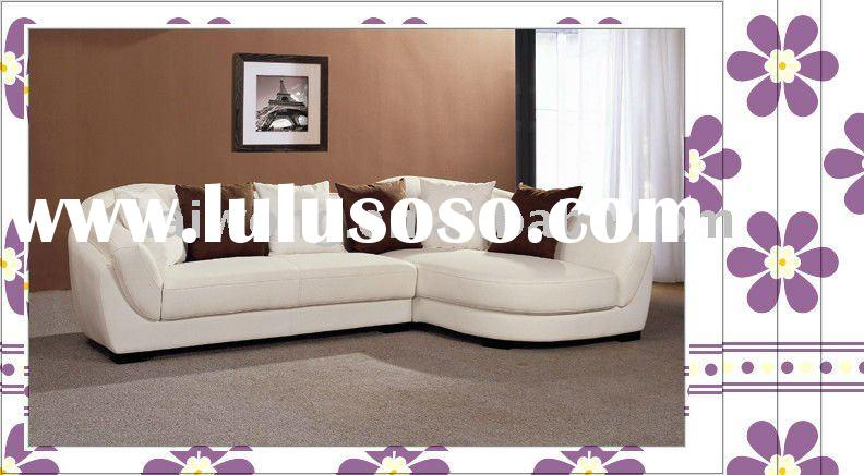 living room furniture 2011 well sold genuine leather L shape sofa set C-015