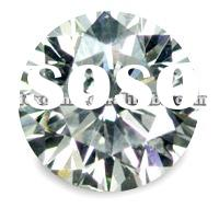 machine cut brilliant cubic zirconia
