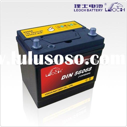 maintenance free car battery 60AH ( DIN series)