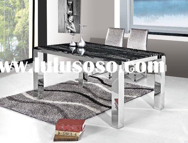marble top Dining Table/ Metal Table Legs/Home Use Table