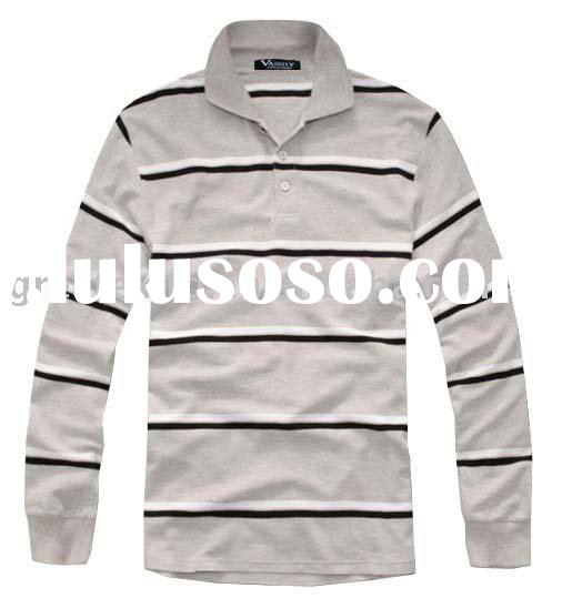 men's brand long sleeve polo shirt