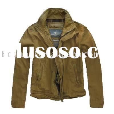 men's fashion casual brand 100%cotton twill men jacket for spring 2011