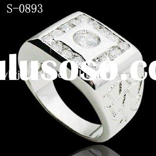 men's jewelry/brass men's ring/fashion finger ring/925 silver ring/Silver Rings/man