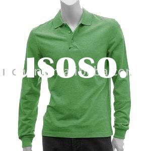 men's long sleeve polo t-shirt