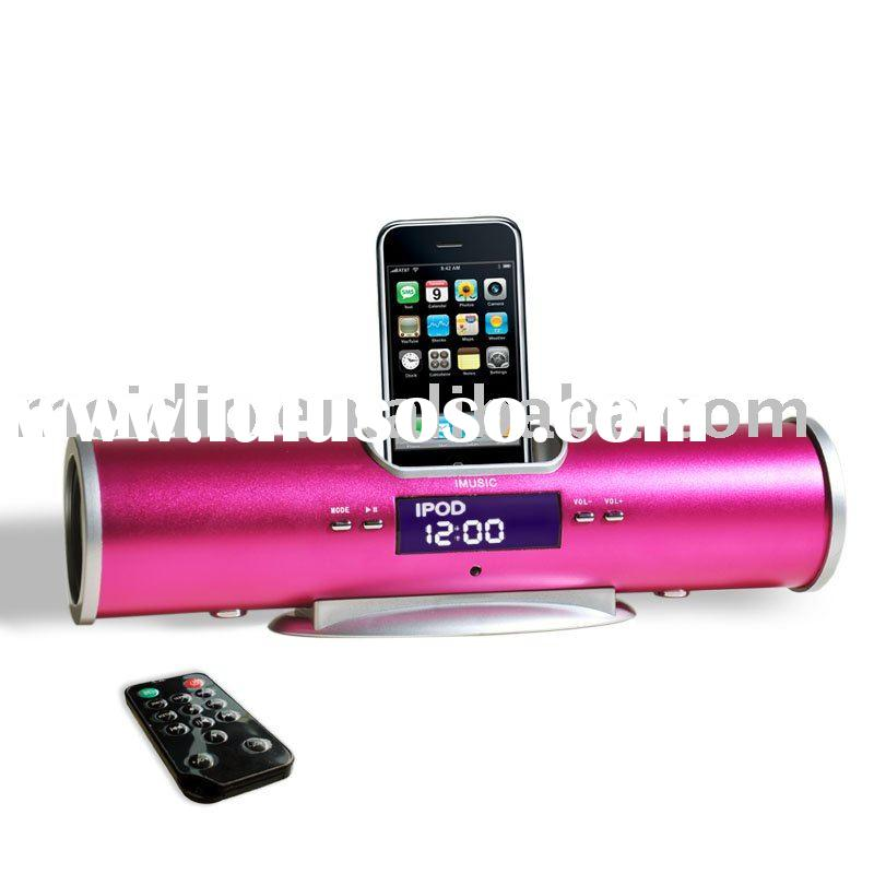 mini dock speaker for ipod nano 6th with FM radio alarm clock