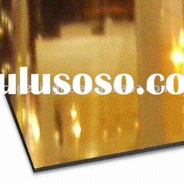 mirror aluminium composite panel wall cladding