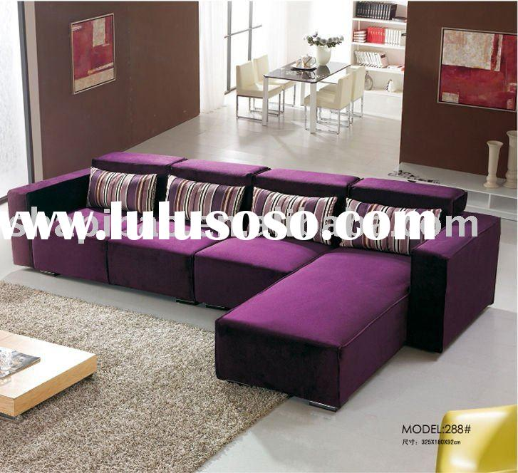 modern home fabric recliner sectional sofa in deep purple furniture 288