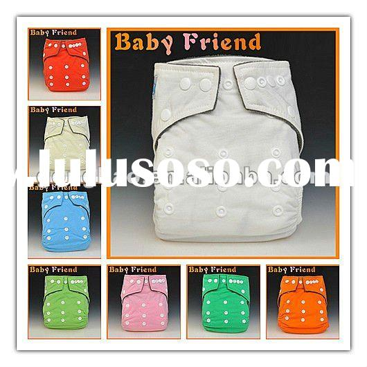 organic bamboo baby washable reusable baby cloth diaper with waterproof PUL