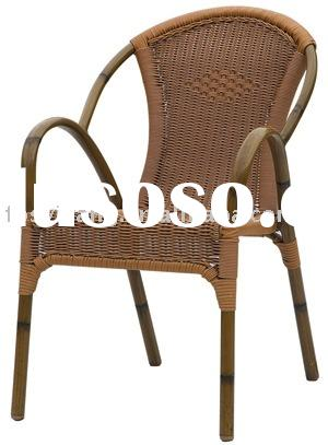 outdoor furniture/rattan furniture/bamboo look chair/bistro chair/aluminium chair