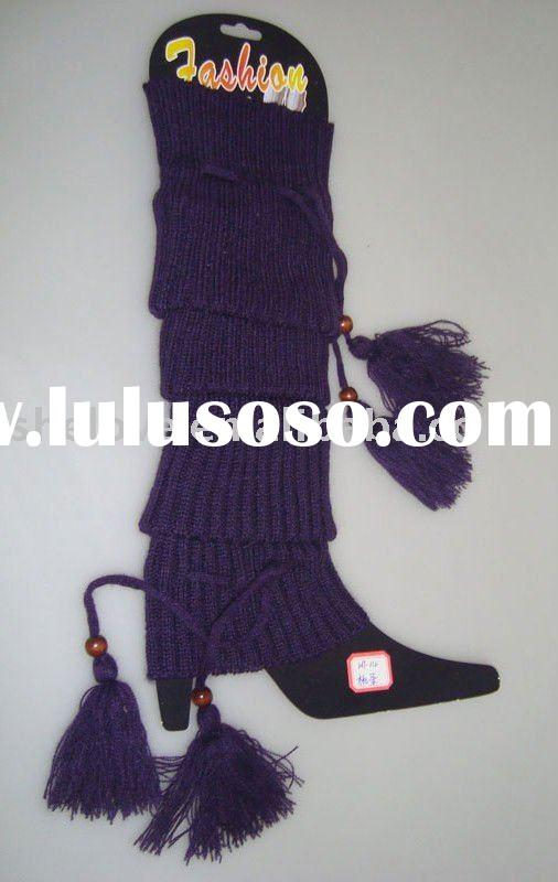 pattern knitted leg warmers