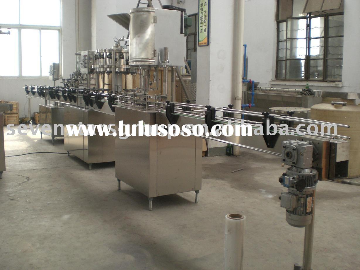 pet bottle carbonated beverage filling line /sparkling beverage bottling machine