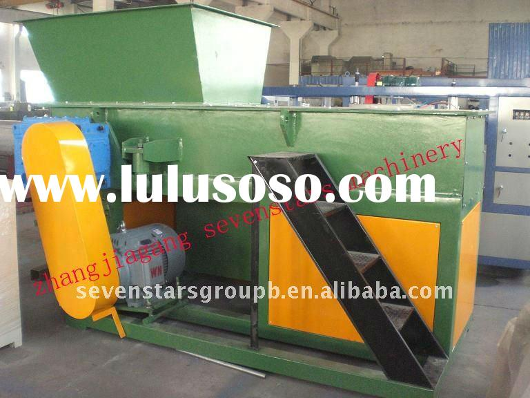 plastic single shaft shredder