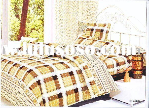 polyester peach skin print duvet cover set - beautiful style
