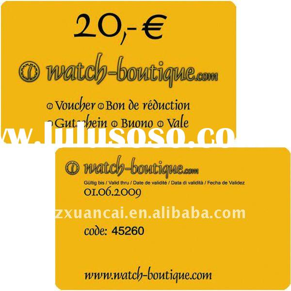 pvc business name card