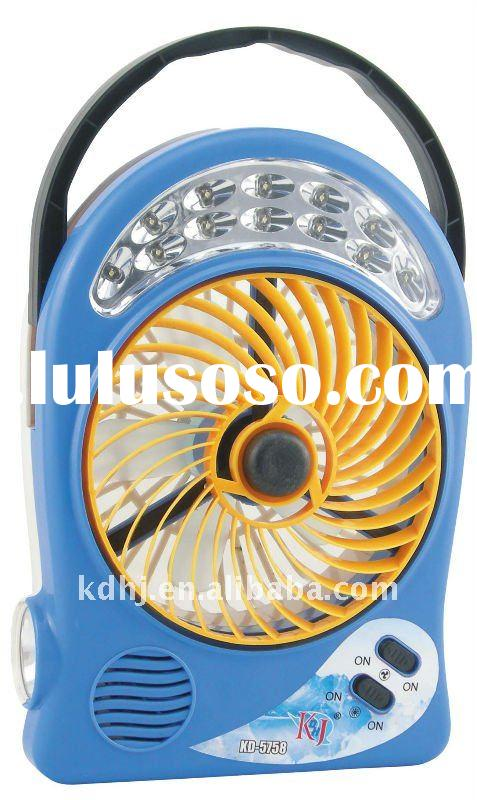 rechargeable emergency fan with led light