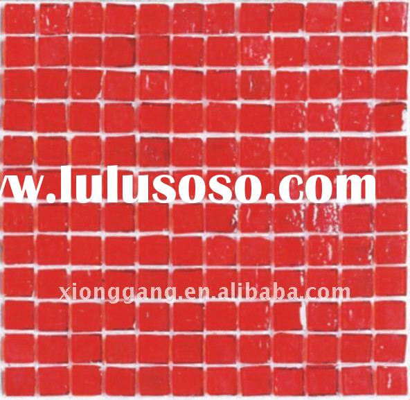 recycled glass mosaic blends.red mosaic tile mosaic blends for home decoration