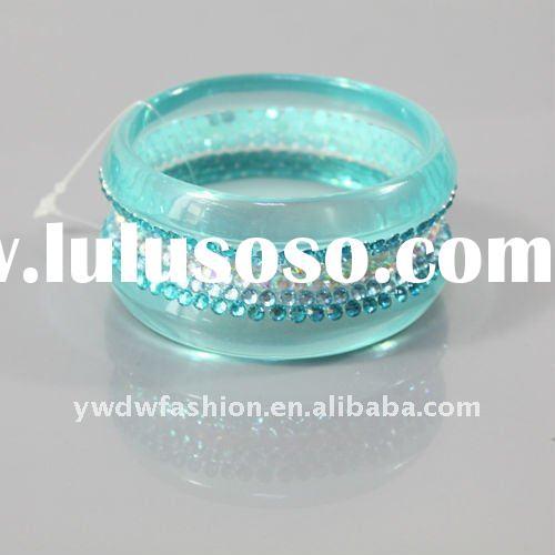 resin bracelets and bangles with rhinestone