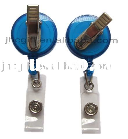 retractable badge holder with swivel clip