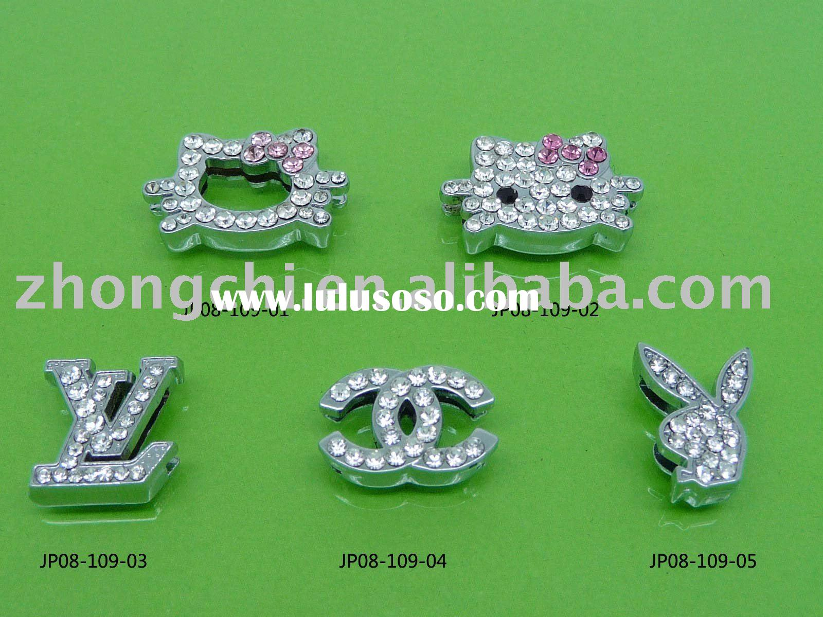 rhinestone or expoxy slide charms for bracelets,phone straps,dog collars
