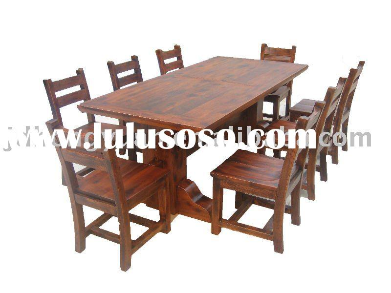 rustic furniture dining room table and chair