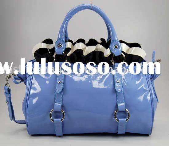 shiny leather satchel handbags sale