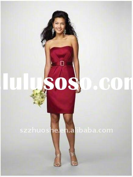 short red bridesmaid dresses new LE1100