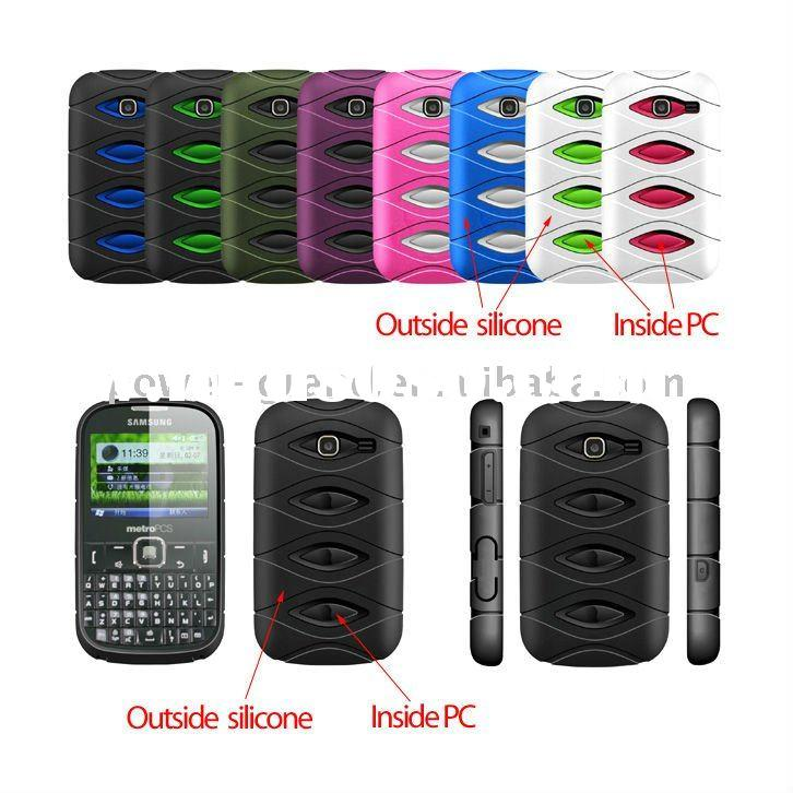 silicon skin and crystal 2 in 1 case for Samsung R380 Freeform III 3(PAYPAL accepted)