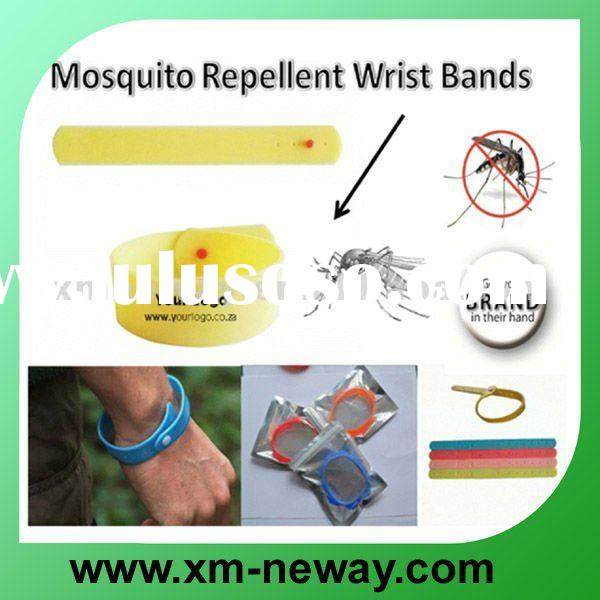 silicone anti mosquito repellent bracelet wristband with adjustable band for kids and adult