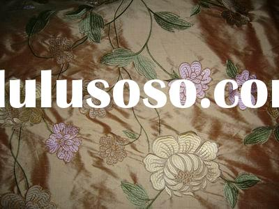 silk fabric with embroidery (dupion)