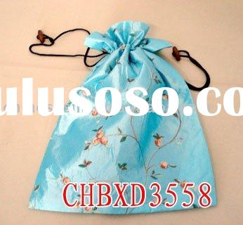 silk jewelry pouches, drawstring pouch bag, shoe pouch