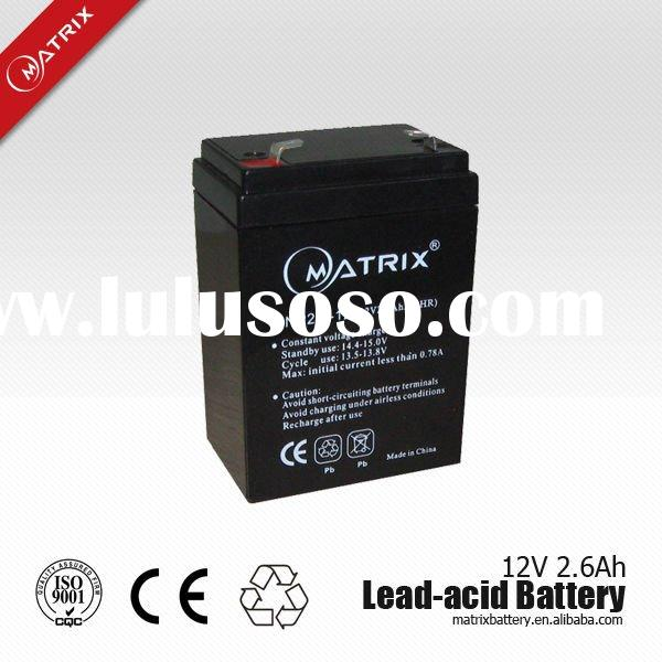 small size sealed rechargeable lead acid battery 12V 2.6AH