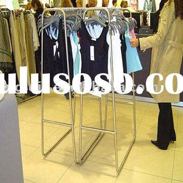 stainless steel clothes display rack