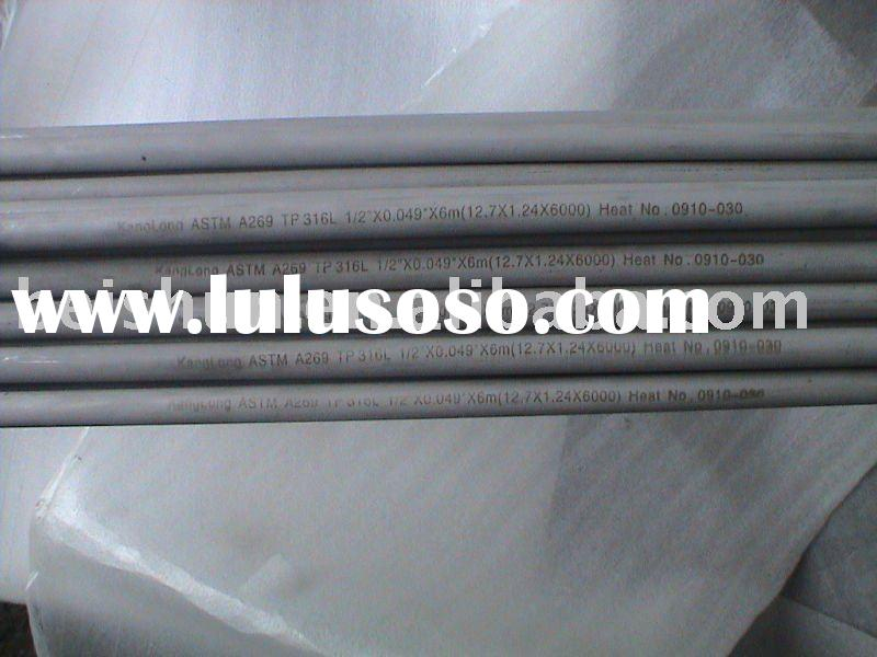 stainless steel seamless tube ASTM A269 TP316L