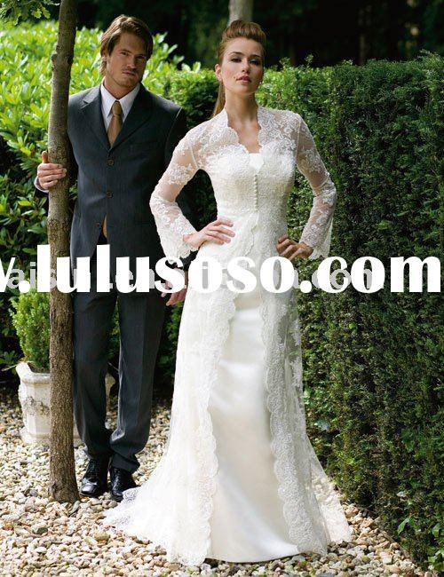 the most popular long sleeve lace wedding dress