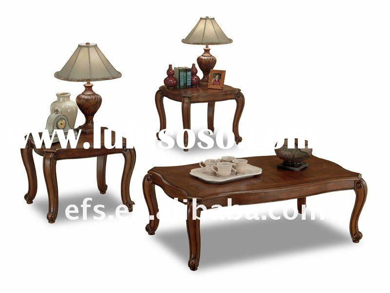 upscale antique classical table tea wood carved