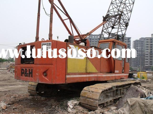 used KOBELCO 50 TON p&h 5050 CRAWLER CRANE